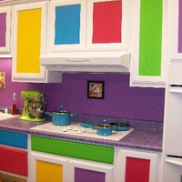 Contemporary Colorful Kitchen Idea Photos | photos pictures images of home house design ideas
