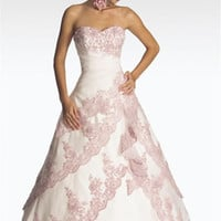 pink wedding dresses designs | House Of Weddings