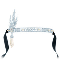 Tiffany & Co. - The Savoy Headpiece from The Gatsby Collection - a headpiece of diamonds and freshwater cultured pearls in platinum