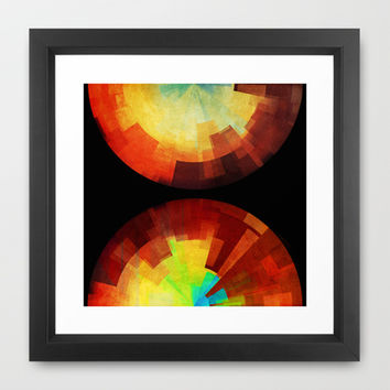Time Framed Art Print by SensualPatterns