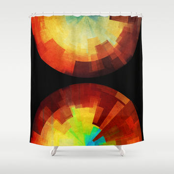 Time Shower Curtain by SensualPatterns