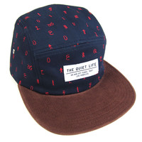 Quiet Life: Cryptic 5 Panel Hat - Navy / Brown - Navy / Brown / One