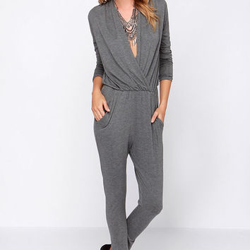 Kick Out the Jams Grey Jumpsuit