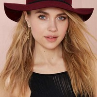 Jolie Wool Hat - Burgundy