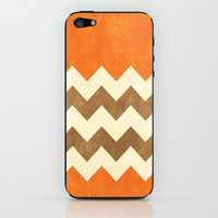 Orange, Brown and Cream Chevron iPhone & iPod Skin by Kat Mun | Society6