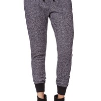 LA Hearts Speckled Fleece Jogger Pants - Womens Pants - Black