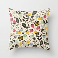 Very Berry Throw Pillow by Poppy & Red
