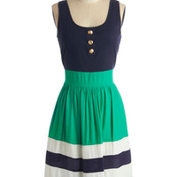Schooner Said Than Done Dress in Green