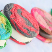 CREATE-Your-Own TYE-DYE Vanilla & Buttercreme Cookie-Wiches-1 Dozen