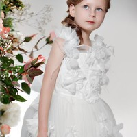 pictures of Off-the-shoulder flower white Flower Girl Dresses FGD168