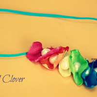 Rainbow Pearl Halo Headband. Fresh Water Pearl. Flower Girl headband. Baby Headband. Baby headband. Photo prop. Hair Acessory.