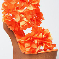 The Zadie Shoe in Orange Flowers