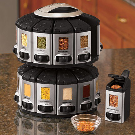 Auto Measure Spice Racks - Fresh Finds - Kitchen > Storage & Organization