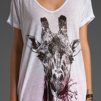White Sheep Head Print Short Sleeve T-shirt - Sheinside.com