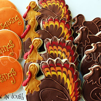 Thanksgiving Cookies, Turkey Cookies, Holiday Cookies, Thanksgiving Blessings, Giving Thanks Cookies