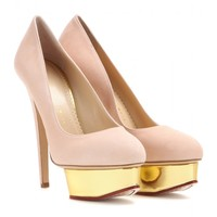 charlotte olympia - dolly suede platform pumps