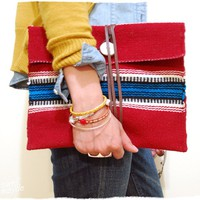 swellmayde: DIY ethnic wrap clutch
