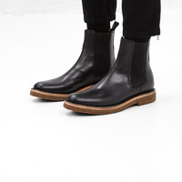 Totokaelo - Dries Van Noten Black Embossed Slip On Boot - $875.00