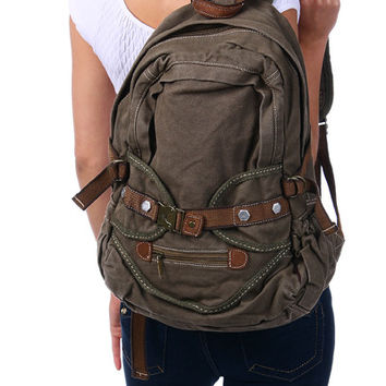 Vintage Cotton Canvas Backpack