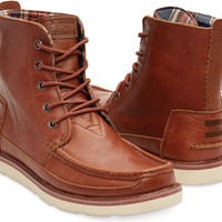 BROWN LEATHER MEN'S SEARCHER BOOTS