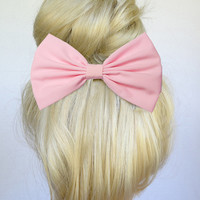 Light Pink hair bow clip baby pink hair bow baby pink hair clip light pink hair clip light pink bow baby pink bow teens hair bow girls bow