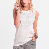 Molly Printed Muscle Tank By Knot Sisters