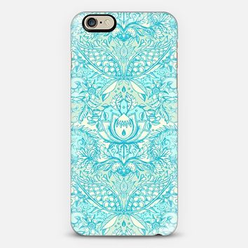 Mint & Turquoise Art Nouveau Pattern iPhone 6 case by Micklyn Le Feuvre | Casetify