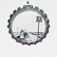 Anarchy Girl Bottlecap Necklace