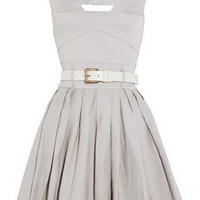 Preen Line | Jenny belted stretch cotton-drill dress | NET-A-PORTER.COM