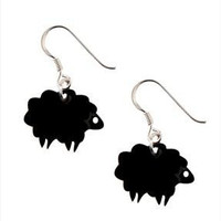 Black Sheep Earrings,Plexiglass Jewelry,Lasercut Acrylic,Gifts Under 25