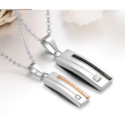 Gullei Trustmart : Love Forever Engraved cute his and her couple necklaces [GTMCN028] - $15.00 - Couple Gifts, Cool USB Drives, Stylish iPad/iPod/iPhone Cases & Home Decor Ideas