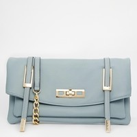 River Island Blue Strap Front Lock Xbody