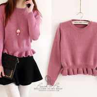3 colors - Lovely Sweater from Peach & Pie