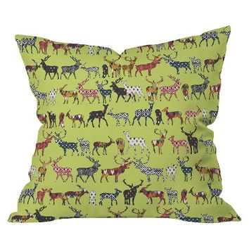 "DENY Designs Pistachio Spice Deer Throw Pillow - Multicolor (20""x20"")"