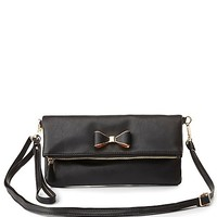 Bow-Embellished Cross-Body Bag