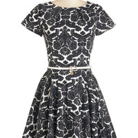 Like a Lucky Lady Dress in Damask | Mod Retro Vintage Dresses | ModCloth.com