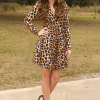 All About The Chase Dress: Leopard