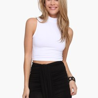 Loli Sleeveless Turtleneck Crop Top