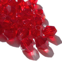 14 Red Swarovski Crystal Beads 4mm - OR Multiple colors available. Mix & Match