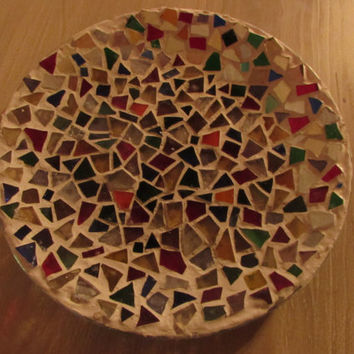 Bowl with mosaic stones