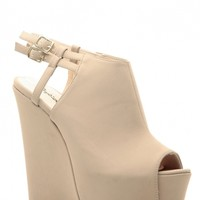 Taupe Faux Nubuck Peep Toe Platform Wedges @ Cicihot Wedges Shoes Store:Wedge Shoes,Wedge Boots,Wedge Heels,Wedge Sandals,Dress Shoes,Summer Shoes,Spring Shoes,Prom Shoes,Women's Wedge Shoes,Wedge Platforms Shoes,floral wedges
