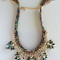 Royal Amalfi Statement Tassels Necklace - Default Title