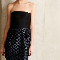Flared Dot Dress by 4.collective Blue Motif