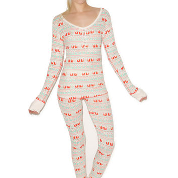 Wildfox Couture Fox Ski Bunny Pajama Set Multi