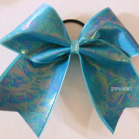 Sea Serpent Cheer Bow Cheerleading