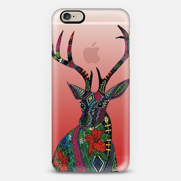 poinsettia deer transparent phone case ~ get $10 off using code: 5A7DC3