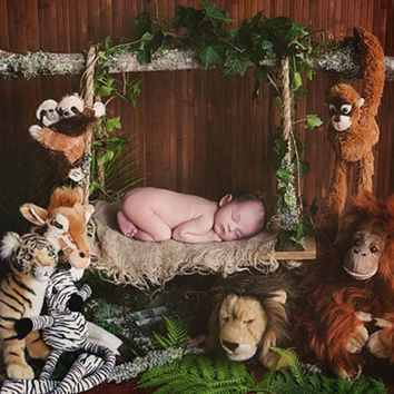 JUNGLE SWING NEWBORN BABY POSER PROP-Backdrop Outlet