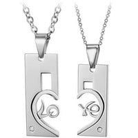 Gullei Trustmart : Connecting Love Letters matching cute couple necklace set [GTMCN014] - $13.00-Couple Gifts, Cool USB Drives, Stylish iPad/iPod/iPhone Cases &amp; Home Decor Ideas