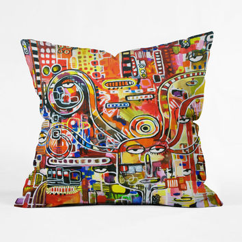 Alive Detroit Throw Pillow Cover