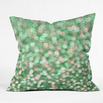 Lisa Argyropoulos Holiday Cheer Mint Throw Pillow - Indoor /